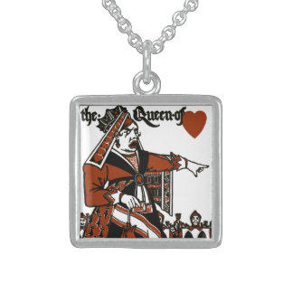Alice In Wonderland; A Play. The Queen of Hearts Custom Necklace