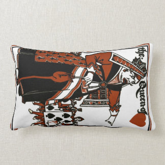 Alice In Wonderland; A Play. The Queen of Hearts Throw Pillow