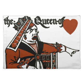 Alice In Wonderland; A Play. The Queen of Hearts Place Mat