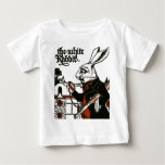 Alice In Wonderland; A Play. The White Rabbit Baby T-Shirt