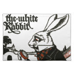 Alice In Wonderland; A Play. The White Rabbit Cloth Placemat