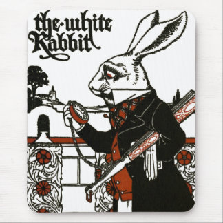 Alice In Wonderland; A Play. The White Rabbit Mouse Pad