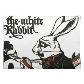 Alice In Wonderland; A Play. The White Rabbit Placemat
