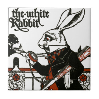 Alice In Wonderland; A Play. The White Rabbit Ceramic Tile