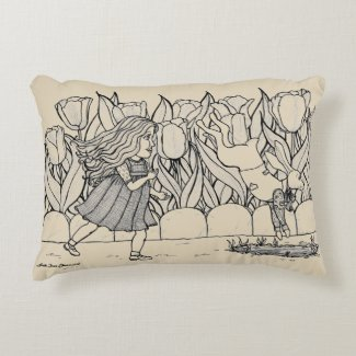 Alice in Wonderland Accent Pillow