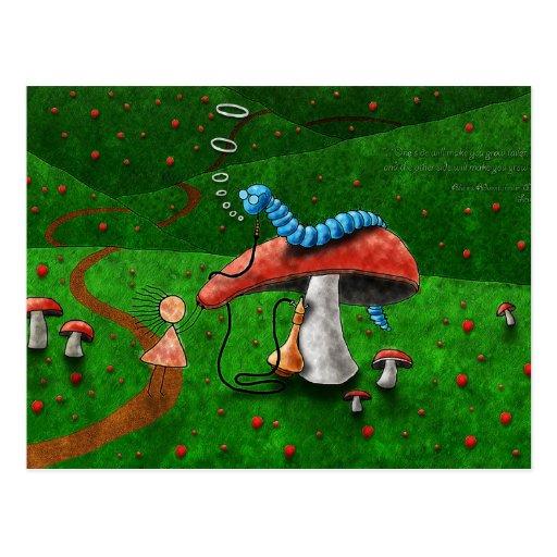 Alice in Wonderland - Advice From A Caterpillar Postcard