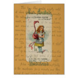 Alice in Wonderland: Alice and the Flamingo Greeting Card