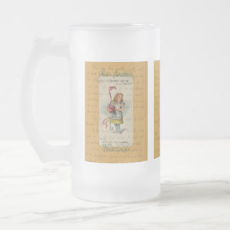Alice in Wonderland: Alice and the Flamingo Frosted Glass Beer Mug