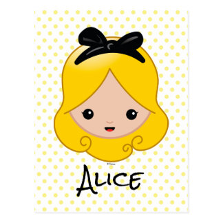 Alice in Wonderland | Alice Emoji Postcard