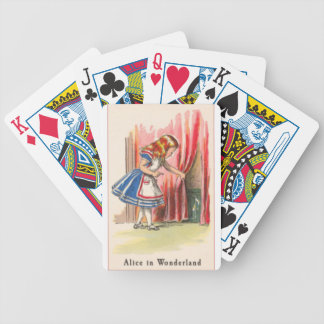Alice in Wonderland Alice Finds the Door Bicycle Playing Cards