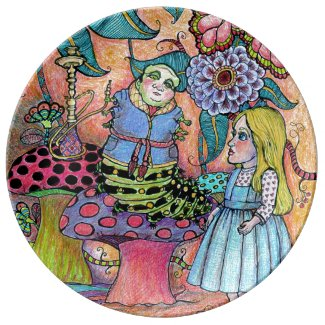 Alice in Wonderland, Alice Meets the Caterpillar Dinner Plate