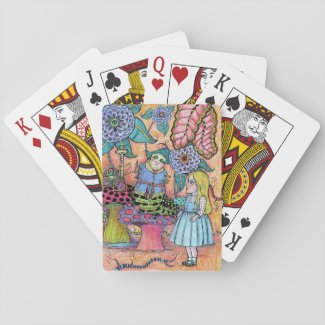 Alice in Wonderland, Alice Meets the Caterpillar Playing Cards