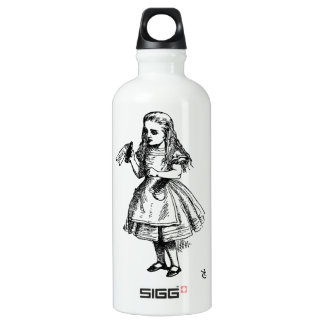 Alice in Wonderland Aluminum Water Bottle