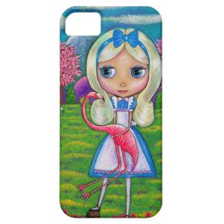Alice in Wonderland and Flamingo iPhone 5 Case