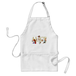 ALICE IN WONDERLAND AND FRIENDS ADULT APRON