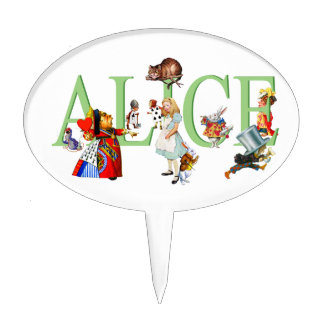 Alice in Wonderland and Friends Cake Topper