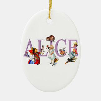 Alice in Wonderland and Friends Ceramic Ornament