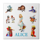 Alice in Wonderland and Friends Ceramic Tile