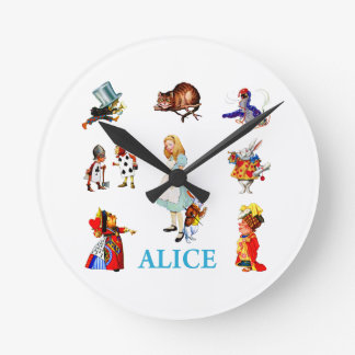 Alice in Wonderland and Friends Wall Clocks