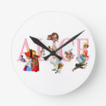 Alice in Wonderland and Friends Clock