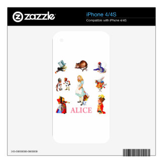Alice in Wonderland and Friends iPhone 4S Skin