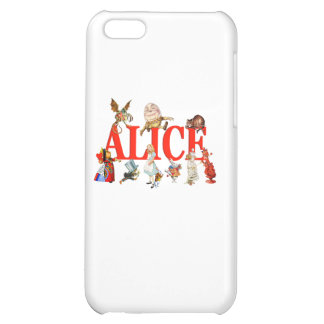 Alice In Wonderland And Friends. Cover For iPhone 5C