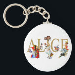 "ALICE IN WONDERLAND AND FRIENDS KEYCHAIN<br><div class=""desc"">Alice,  the Queen of Hearts,  the Mad Hatter,  the Cheshire cat,  the duchess and more friends form wonderland surround Alice. From Alice&#39;s Adventures in Wonderland.  Great fun!</div>"