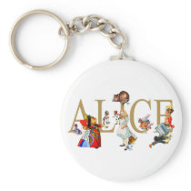 ALICE IN WONDERLAND AND FRIENDS KEYCHAIN