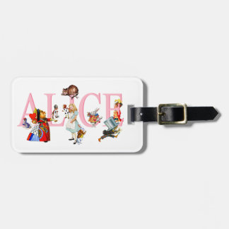 Alice in Wonderland and Friends Luggage Tag