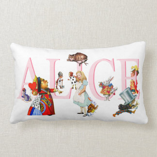 Alice in Wonderland and Friends Lumbar Pillow