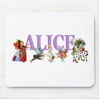 Alice in Wonderland and Friends Mouse Pads