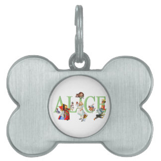 Alice in Wonderland and Friends Pet Name Tag
