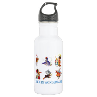 Alice in Wonderland and Friends Stainless Steel Water Bottle