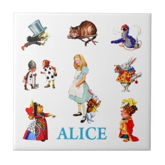 Alice in Wonderland and Friends Tile