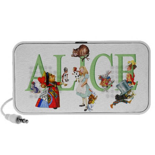 Alice in Wonderland and Friends Travel Speakers