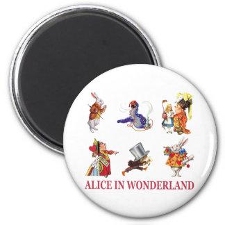Alice in Wonderland and Her Friends Fridge Magnets