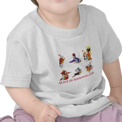 Alice in Wonderland and Her Friends T Shirts