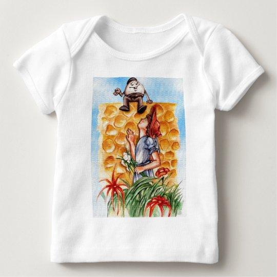 Alice In Wonderland and Humpty Dumpty Baby T-Shirt