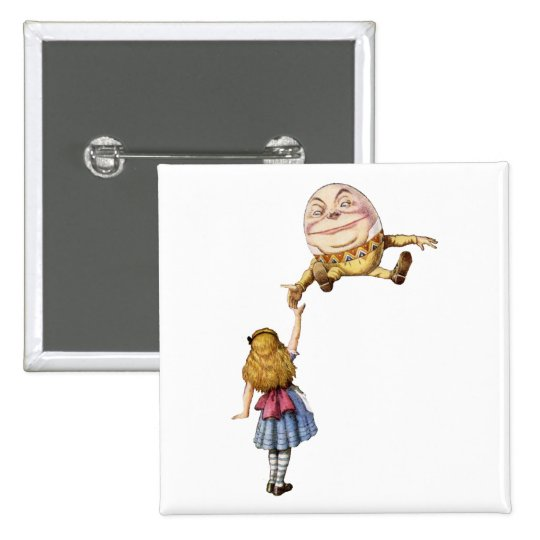 Alice in Wonderland and Humpty Dumpty Button