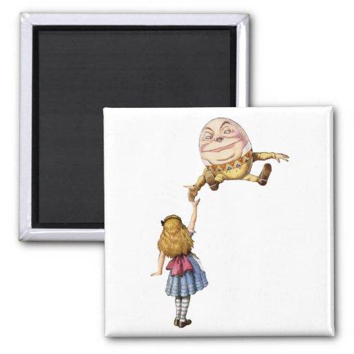 Alice in Wonderland and Humpty Dumpty Magnet