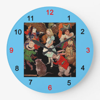 Alice in Wonderland and Jessie Willcox Smith Large Clock