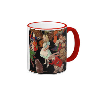 Alice in Wonderland and Jessie Willcox Smith Ringer Mug