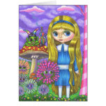 Alice in Wonderland and the Caterpillar Greeting Card