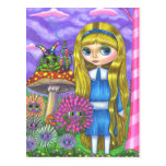 Alice in Wonderland and the Caterpillar Postcard