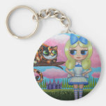 Alice in Wonderland and the Cheshire Cat Keychain