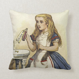 Alice in Wonderland and the Cheshire Cat Pillow