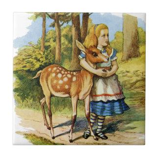 Alice in Wonderland and the Deer Tile