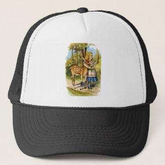 Alice in Wonderland and the Deer Trucker Hat