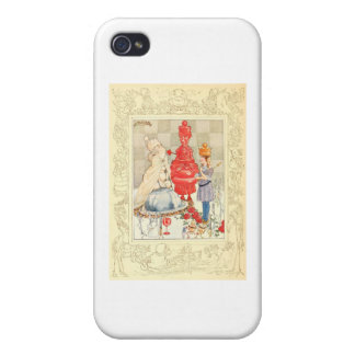Alice in Wonderland and the Fish Riddle iPhone 4 Cases