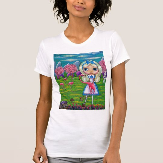 Alice in Wonderland and the Flamingoes T-Shirt